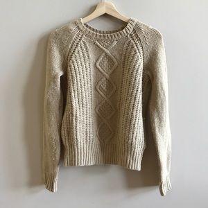 C. wonder vintage tan brown chunky knit sweater